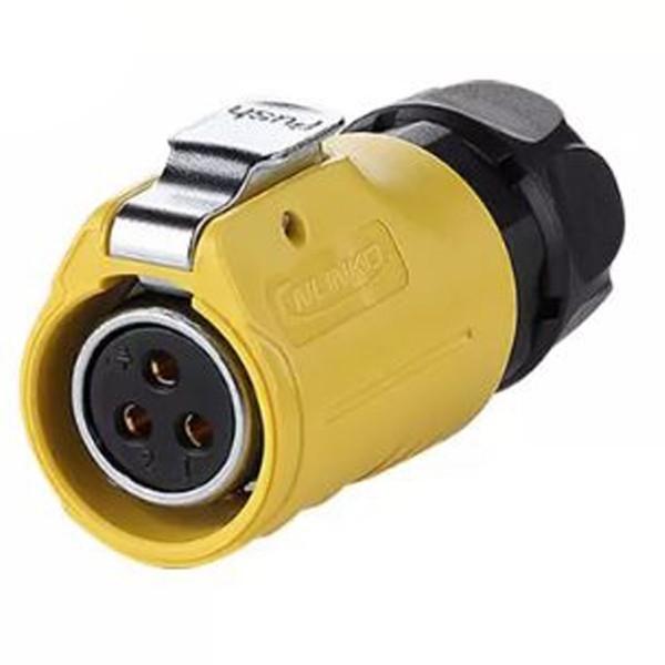 LP-20 Power Kabel-Kupplung umgekehrt M20 gelb 3 pol Weibchen 500 V 20 A IPX8