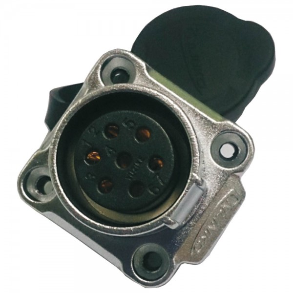 LP-20 Multicore Stecker M20 7 pol female socket square 500 V 12 A