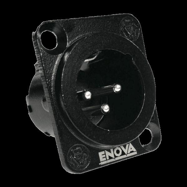 ENOVA XLR Chassis Connector 3 polig Einbaubuchse Seitenansicht