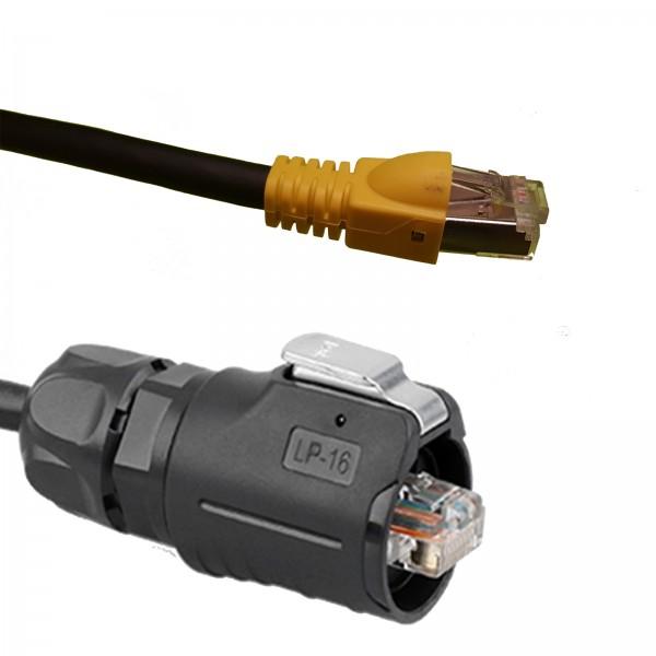 20m RJ45-Kabel. LP16K Cat7 Kabel auf ein Cat5e RJ45-Stecker