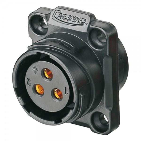 YM-20 Power Stecker M20 3 pol female socket square 500 V 20 A
