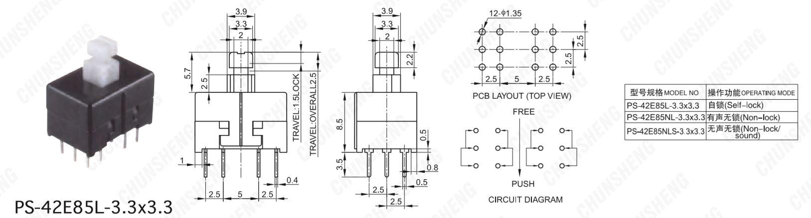 PS-42E85L-EP-Data