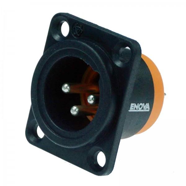 Wasserfester XLR Einbaustecker XLR IP67