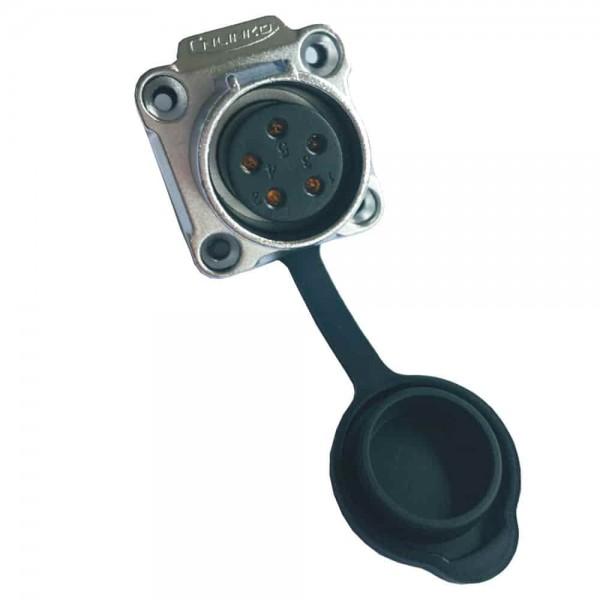 LP-20 Power Stecker M20 4 pol female socket square 500 V 20 A