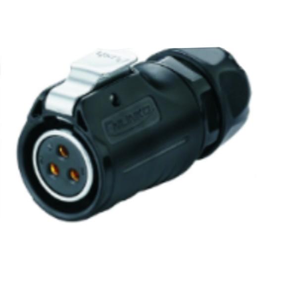 LP-20 Power Kabel-Kupplung umgekehrt M20 schwarz 3 pol Weibchen 500 V 20 A IPX8