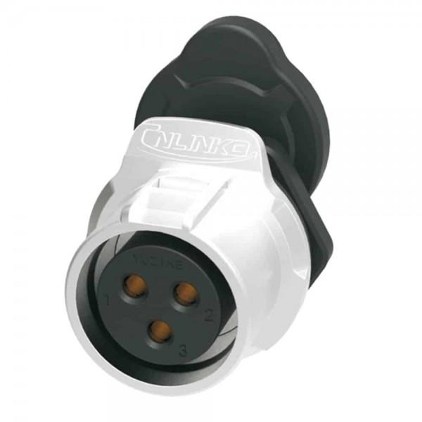 LP-20 Power Stecker M20 3-polige Buchse rund 500 V 20 A IPX8