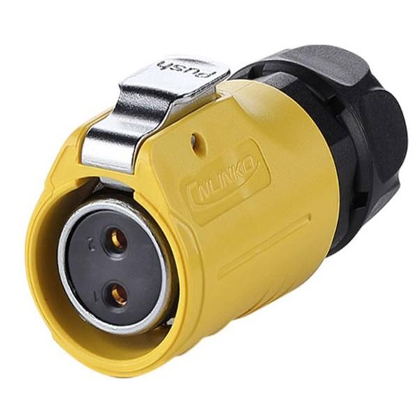 LP-20 Power Kabel-Kupplung umgekehrt M20 gelb 2 pol Weibchen 500 V 20 A IPX8