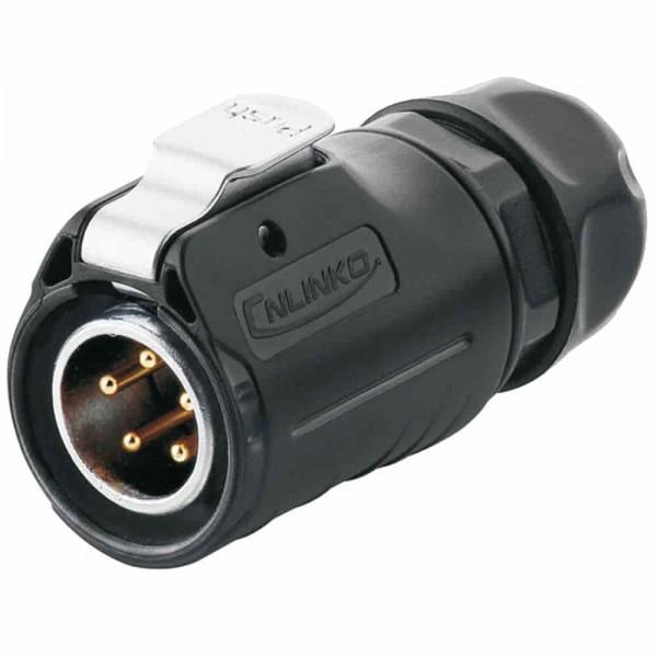LP-20 Power Stecker M20 5 pol male plug 500 V 12 A IPX8