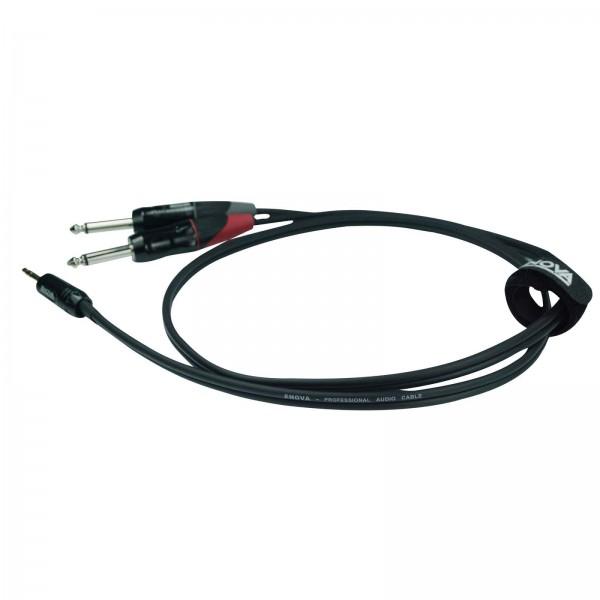 6 m Jack 3.5 mm 3 pol - Jack 6.35 mm 2 pol Adapterkabel schwarz & rot Stereokabel