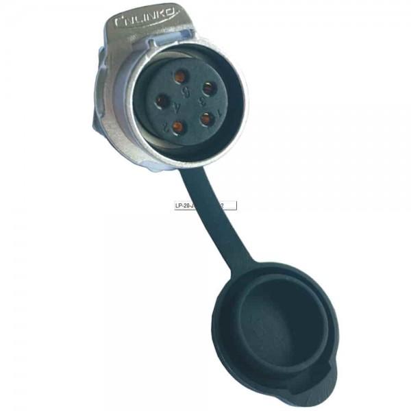 LP-20 Multicore Stecker M20 5 pol female socket round 500 V 12 A
