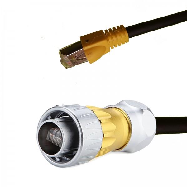 5m RJ45-Kabel. DH24 Cat7 Kabel auf ein Cat6A RJ45-Stecker