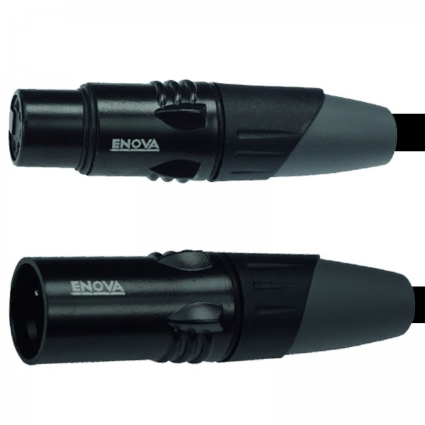 2 m XLR male 5 pol auf XLR female 5 pol DMX-Kabel 5-adrig